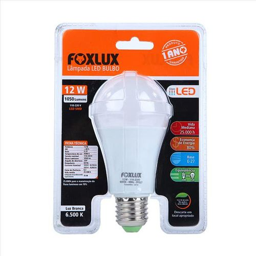 Imagem do produto FOXLUX - LAMP LED A60 12W-1050LM 6500K