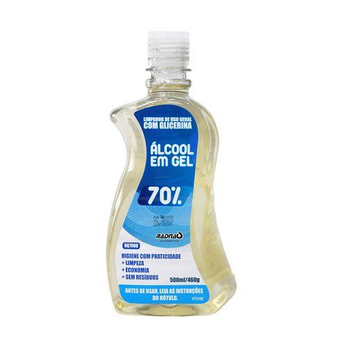 Imagem do produto RADNAQ - ALCOOL GEL ANTISSEPTICO 70% 500ML*
