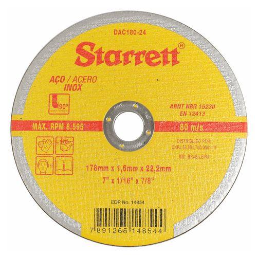 Imagem do produto STARRETT - DISCO CORTE INOX 07X1,6X7/8