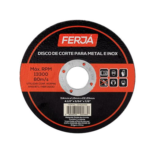Imagem do produto FERJA - DISCO CORTE INOX 41/2X1,0X7/8