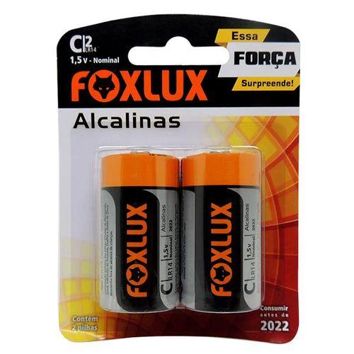 Imagem do produto FOXLUX - PILHA ALCALINA MEDIA C C/2P**